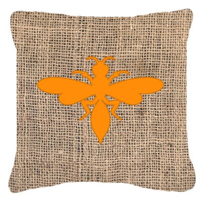 Wasp Burlap Indoor/Outdoor Throw Pillow Size: 18 H x 18 W x 5.5 D, Color: Orange