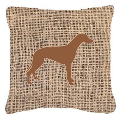 Greyhound Burlap Indoor/Outdoor Throw Pillow Size: 14 H x 14 W x 4 D, Color: Brown