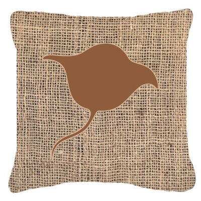 Stingray Burlap Indoor/Outdoor Throw Pillow Size: 14 H x 14 W x 4 D, Color: Brown