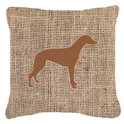 Greyhound Burlap Indoor/Outdoor Throw Pillow Size: 18 H x 18 W x 5.5 D, Color: Brown