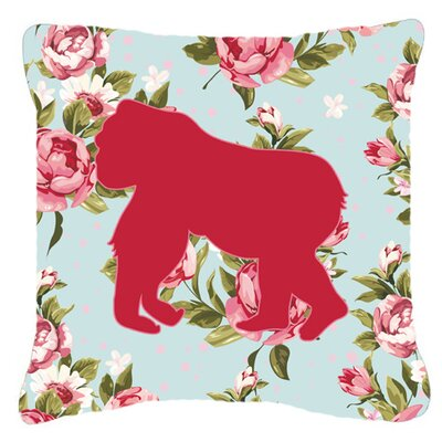 Gorilla Shabby Elegance Blue Roses Indoor/Outdoor Throw Pillow Size: 14 H x 14 W x 4 D