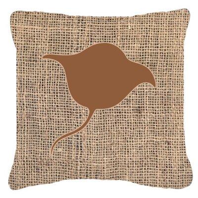 Stingray Burlap Indoor/Outdoor Throw Pillow Color: Brown, Size: 18 H x 18 W x 5.5 D
