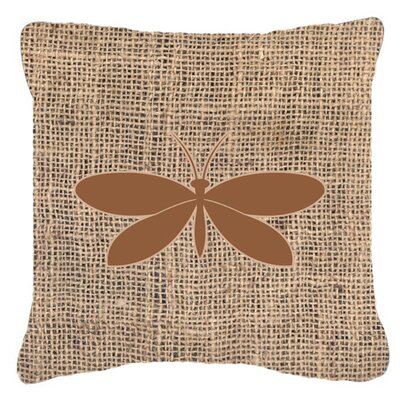 Moth Burlap Indoor/Outdoor Throw Pillow Size: 14 H x 14 W x 4 D, Color: Brown