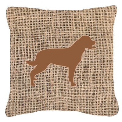 Labrador Burlap Indoor/Outdoor Throw Pillow Size: 14 H x 14 W x 4 D, Color: Brown