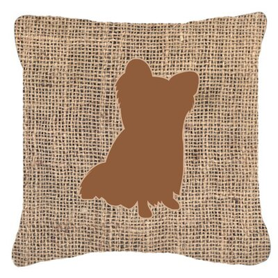 Chihuahua Burlap Indoor/Outdoor Throw Pillow Size: 14 H x 14 W x 4 D, Color: Brown