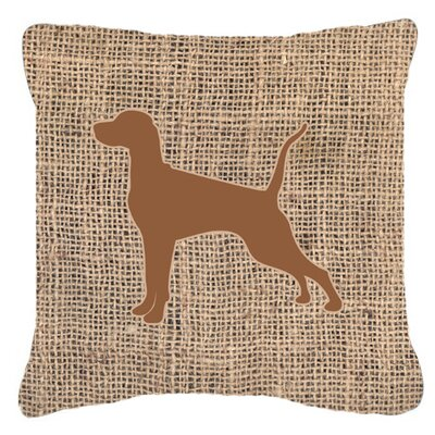 Pointer Burlap Indoor/Outdoor Throw Pillow Color: Brown, Size: 14 H x 14 W x 4 D