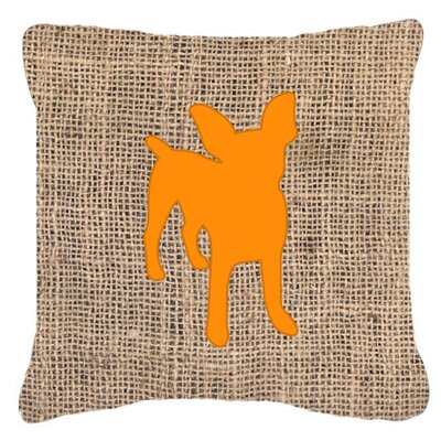 Chihuahua Burlap Fade Resistant Indoor/Outdoor Throw Pillow Size: 18 H x 18 W x 5.5 D, Color: Orange
