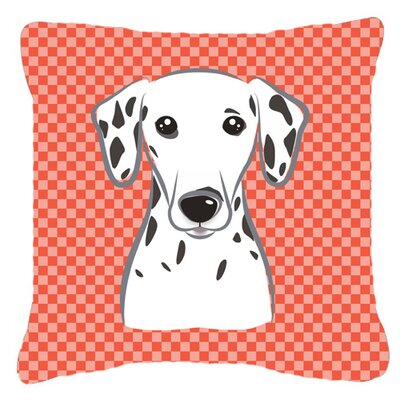 Checkered Dalmatian Indoor/Outdoor Throw Pillow Size: 14 H x 14 W x 4 D