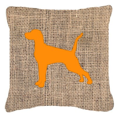 Pointer Burlap Indoor/Outdoor Throw Pillow Size: 18 H x 18 W x 5.5 D, Color: Orange