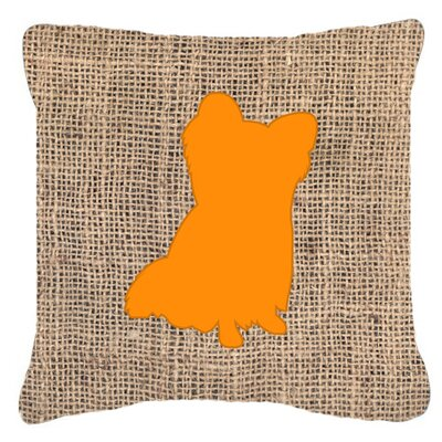 Chihuahua Burlap Indoor/Outdoor Throw Pillow Size: 18 H x 18 W x 5.5 D, Color: Orange