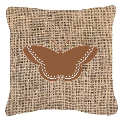 Modern Butterfly Burlap Indoor/Outdoor Throw Pillow Size: 14 H x 14 W x 4 D, Color: Brown