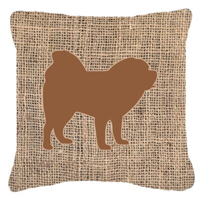Chow Chow Burlap Indoor/Outdoor Throw Pillow Size: 14 H x 14 W x 4 D, Color: Brown
