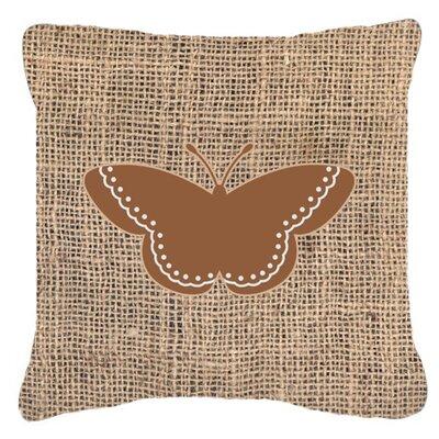 Modern Butterfly Burlap Indoor/Outdoor Throw Pillow Size: 18