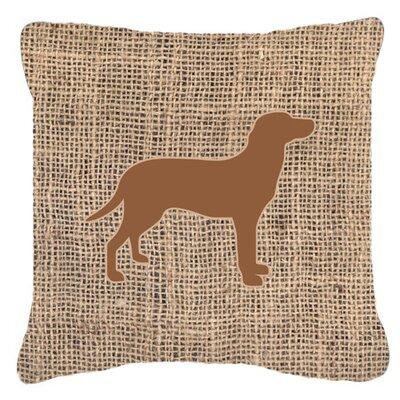 Labrador Burlap Indoor/Outdoor Throw Pillow Size: 18 H x 18 W x 5.5 D, Color: Brown