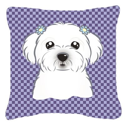 Checkered Maltese Indoor/Outdoor Throw Pillow Size: 18