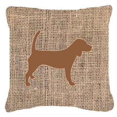 Beagle Burlap Indoor/Outdoor Throw Pillow Size: 14 H x 14 W x 4 D, Color: Brown