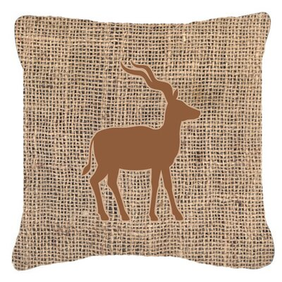 Deer Burlap Indoor/Outdoor Throw Pillow Size: 18 H x 18 W x 5.5 D, Color: Brown