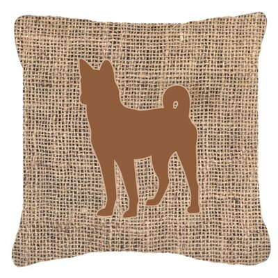 Basenji Burlap Indoor/Outdoor Throw Pillow Size: 14 H x 14 W x 4 D, Color: Brown