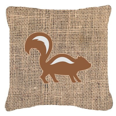 Skunk Burlap Indoor/Outdoor Throw Pillow Size: 18 H x 18 W x 5.5 D, Color: Brown