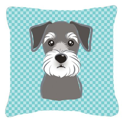 Checkered Schnauzer Indoor/Outdoor Throw Pillow Size: 14 H x 14 W x 4 D