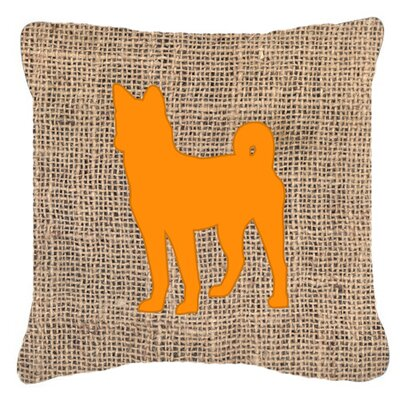 Basenji Burlap Indoor/Outdoor Throw Pillow Size: 18 H x 18 W x 5.5 D, Color: Orange