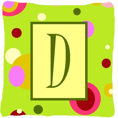 Letter Initial Monogram Indoor/Outdoor Throw Pillow Letter: D