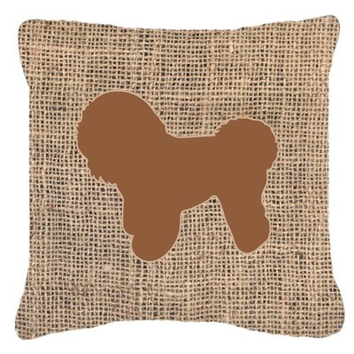 Bichon Frise Burlap Indoor/Outdoor Throw Pillow Size: 14 H x 14 W x 4 D, Color: Brown