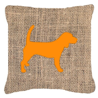Beagle Burlap Indoor/Outdoor Throw Pillow Size: 18 H x 18 W x 5.5 D, Color: Orange