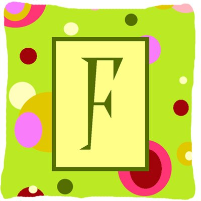 Letter Initial Monogram Indoor/Outdoor Throw Pillow Letter: F