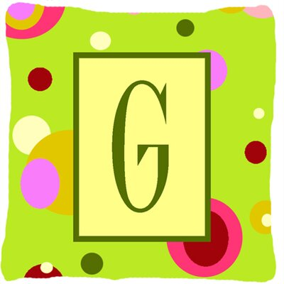 Letter Initial Monogram Indoor/Outdoor Throw Pillow Letter: G
