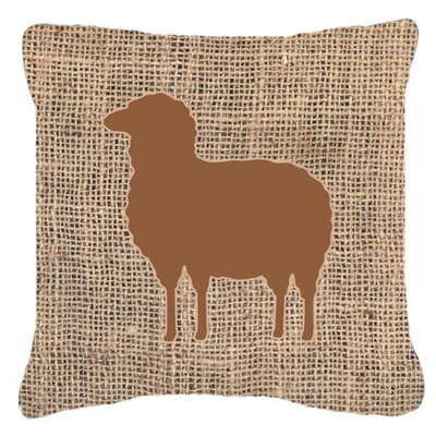 Sheep Burlap Indoor/Outdoor Throw Pillow Size: 18 H x 18 W x 5.5 D, Color: Brown