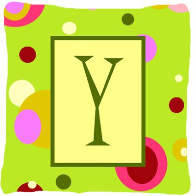 Letter Initial Monogram Indoor/Outdoor Throw Pillow Letter: Y