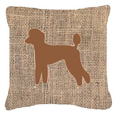Poodle Burlap Indoor/Outdoor Throw Pillow Color: Brown, Size: 14 H x 14 W x 4 D