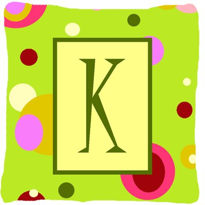 Letter Initial Monogram Indoor/Outdoor Throw Pillow Letter: K