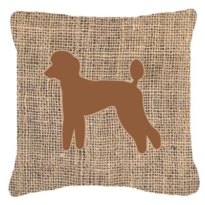 Poodle Burlap Square Indoor/Outdoor Throw Pillow Size: 18 H x 18 W x 5.5 D, Color: Brown