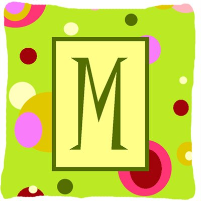 Letter Initial Monogram Indoor/Outdoor Throw Pillow Letter: M