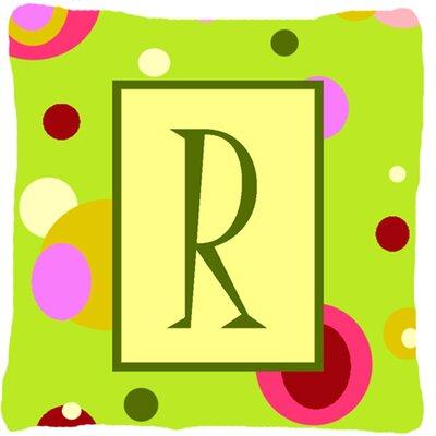Letter Initial Monogram Indoor/Outdoor Throw Pillow Letter: R