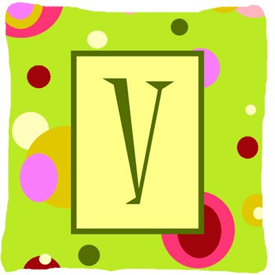 Letter Initial Monogram Indoor/Outdoor Throw Pillow Letter: V