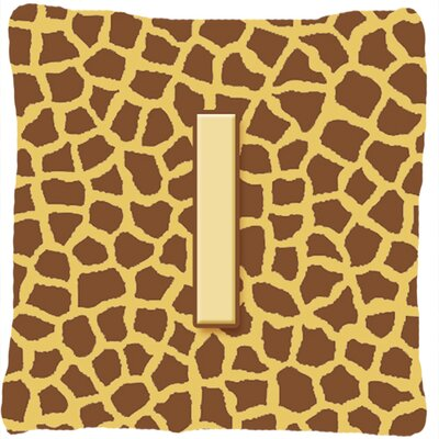 Monogram Initial Giraffe Indoor/Outdoor Throw Pillow Letter: I