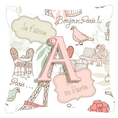 Letter Love in Paris Indoor/Outdoor Throw Pillow