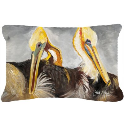 Pelicans Preening Indoor/Outdoor Throw Pillow