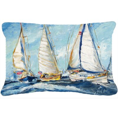 Roll Me Over Sailboats Indoor/Outdoor Throw Pillow
