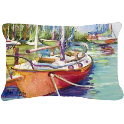 Red Sailboat Indoor/Outdoor Throw Pillow