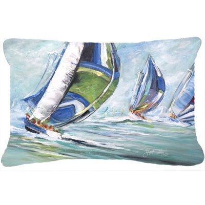 Boat Race Indoor/Outdoor Throw Pillow
