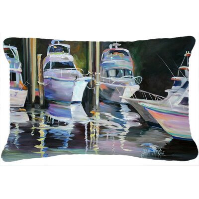 Deep Sea Fishing Boats Indoor/Outdoor Throw Pillow