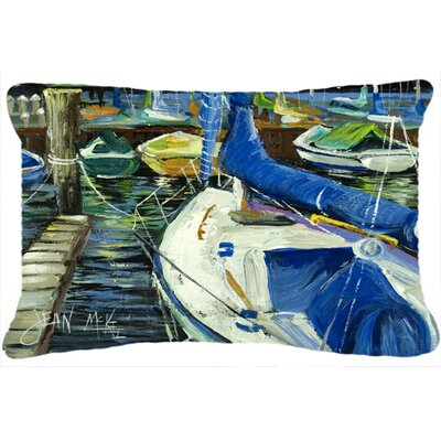 Night on The Docks Sailboat Indoor/Outdoor Throw Pillow