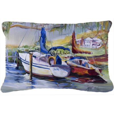 Lucky Dream Sailboat Indoor/Outdoor Throw Pillow