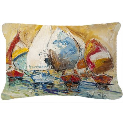 Buzzards Sailboat Race Indoor/Outdoor Throw Pillow
