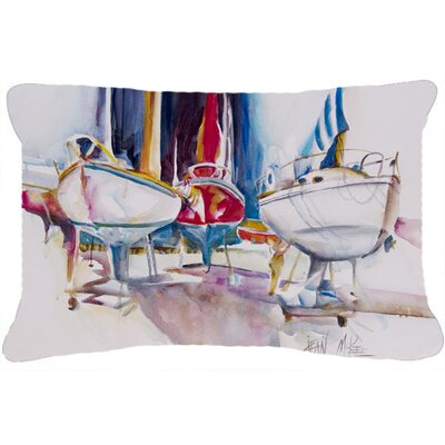 Sailboats in Dry Dock Indoor/Outdoor Throw Pillow