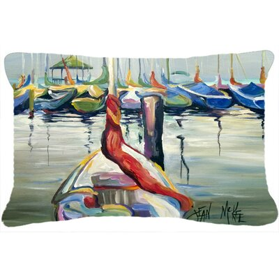 Lasalle Sailboats Indoor/Outdoor Throw Pillow